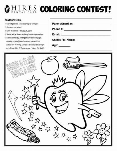 Dental Health Month February Children Coloring Dentist
