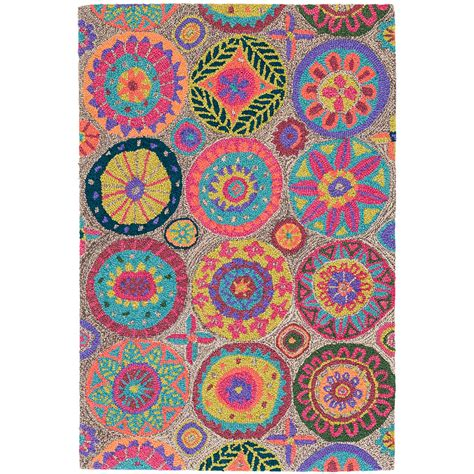 bright colored outdoor rugs merry go bright micro hooked wool rug dash albert