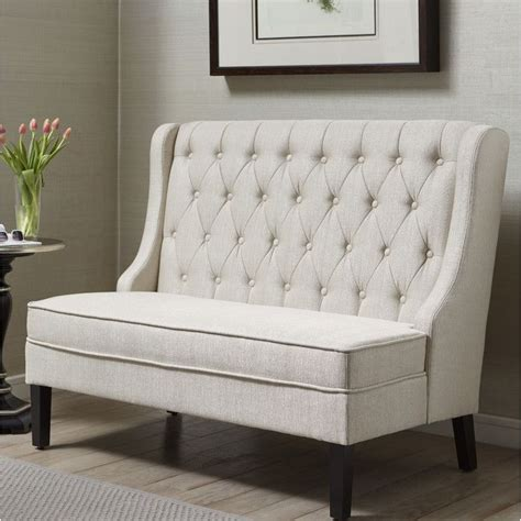 settee banquette banquette 52 quot tufted settee banquettes settees and