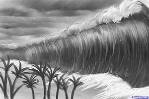 How to Draw a Tsunami, Tsunami, Tsunamis, Step by Step ...