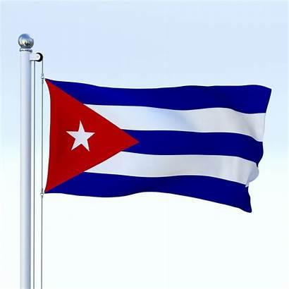 Flag Cuba 3d Animated Wireframes