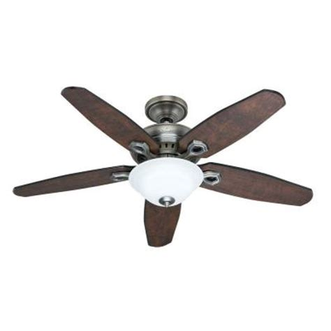 home depot remote control ceiling fans hunter fairhaven 52 in antique pewter ceiling fan with