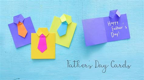diy fathers day cards gift ideas paper crafts youtube