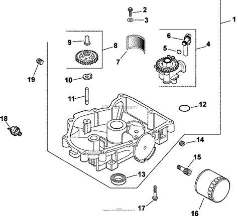 17 Hp Kohler Engine Diagram by Kohler Cv23 75600 Mtd 23 Hp 17 2 Kw Parts Diagram For