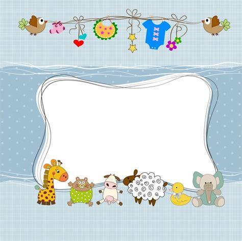 baby shower frame free vector in adobe illustrator ai