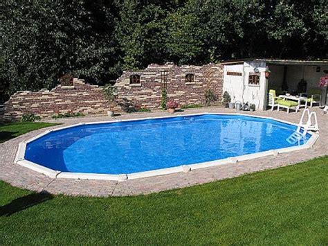 stahlwandpool oval set stahlwandpool oval 6 10 x 3 60 x 1 32 m center pool freistehend set pool net