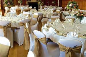 chair covers for wedding wedding table centre package deans chair covers