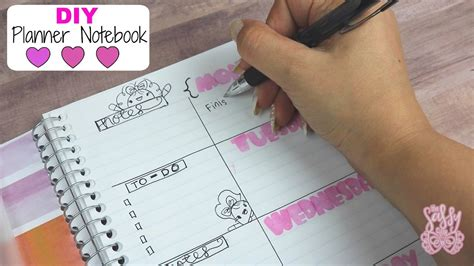 Diy Planner Notebook| Easy & Budget Friendly Diy Mirror Wall Clock Tablet Bed Worm Bin Instructions Photo Mounting Ideas Dvd Storage Box Rolling Tool Cabinet Solar Projects India End Table Redo
