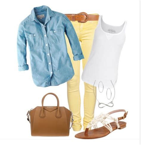 Styles by Shay Renae Pinterest Done Plus Yellow Skinny Jeans + Chambray Shirt