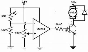 how to build a dark activated motor circuit With dark and light activated relay circuit diagram