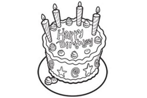 coloring activity pages birthday cake   candles