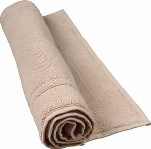 tapis de bain 50 x 80 cm en coton couleur ficelle ficelle With tapis de bain coton