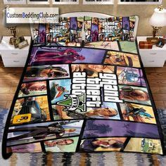 Bed Linens Gta grand theft auto all series bedding set blanket sheets