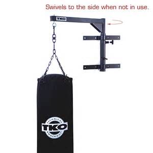 tko heavy bag wall mount with swivel pull pin adjusts