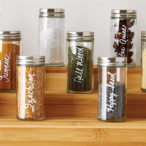 Spice Rack With Empty Jars by Spice Bottle 3 Oz Glass Spice Bottle The Container Store
