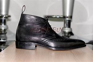 custom handmade mens chukka leather ankle boots men boots With custom leather boots mens
