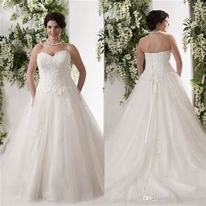 new arrival lace wedding dresses sweetheart neckline 2016 With a line wedding dresses plus size