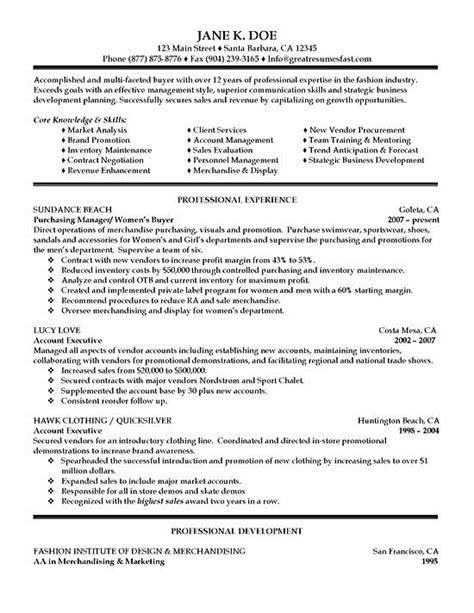 purchasing resume