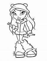 Coloring Teen Winter Drawing Fancy Bratz Outfit Season Pages Easy Zombie Drawings Netart Colorings sketch template