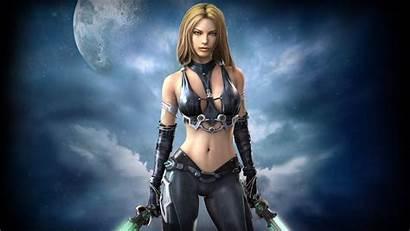 Warrior Fantasy Woman Moon