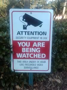 Surveillance Cameras Warning Signs