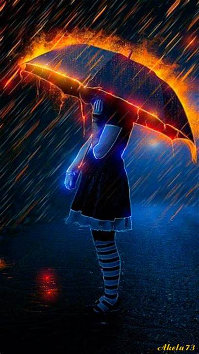 Animation Akela Rain Fire Animated Storm Raining