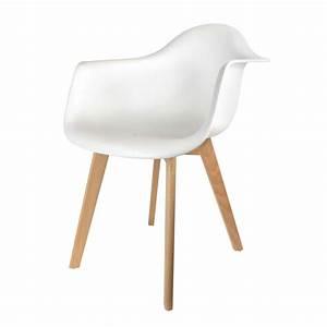 Fauteuil Scandinave Blanc : fauteuil scandinave blanc ac deco ~ Teatrodelosmanantiales.com Idées de Décoration