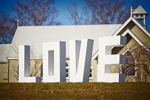 large love letters wanaka dreams wedding hire With large love letters