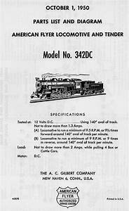 American Flyer Locomotive 342dc Parts List  U0026 Diagram