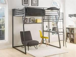 Letto a soppalco CAZEL140x190 opzione materasso scrivania
