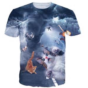cat shirts tornado thundercat lightning cat 3d print