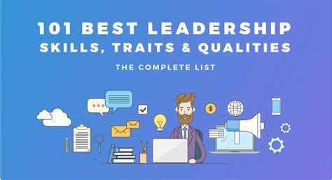 leadership skills traits qualities
