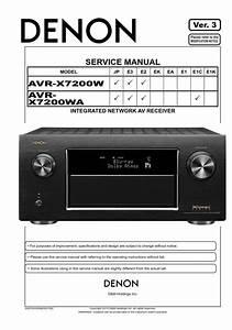 Denon Avr X7200w X7200wa Av Receiver Service Manual In
