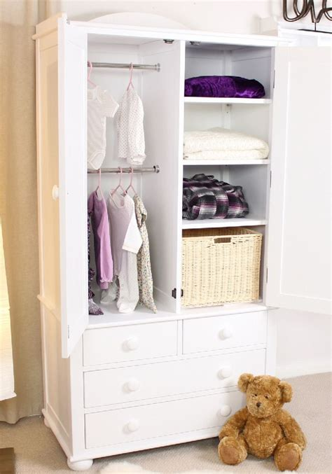Child Wardrobe by Nutkin Childrens White Painted Bedroom Furniture