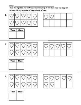 k nbt 1 tens and ones worksheet by mrsleebyday tpt