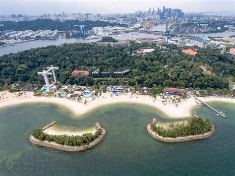 aerial palawan island  beach  sentosa singapore