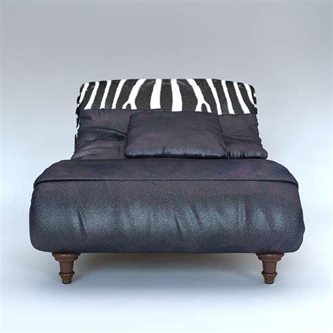 Zebra Settee by Zebra Settee Lounge Chair Sofa 3d Model Buy Zebra Settee