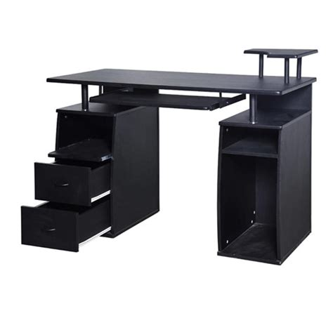 office desk under 200 homcom home office dorm computer desk w elevated shelf