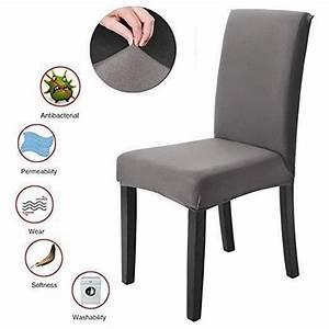 Housse Pour Chaise : housse de chaise extensible gris achat vente pas cher ~ Teatrodelosmanantiales.com Idées de Décoration