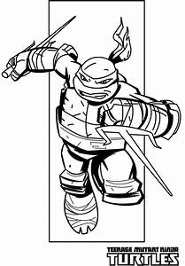 Teenage Mutant Ninja Turtles Coloring Pages Raphael