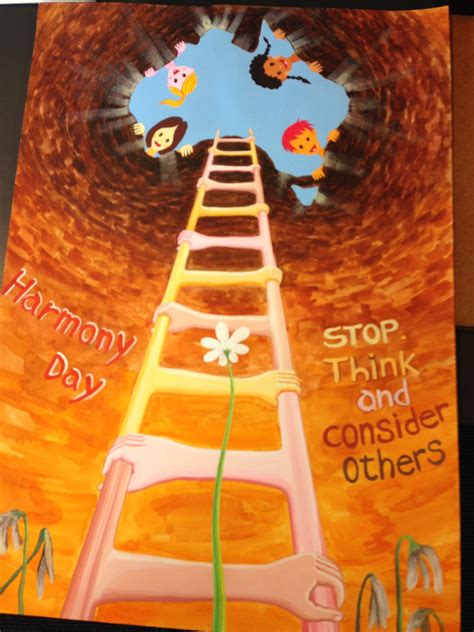 state winner harmony day poster competition