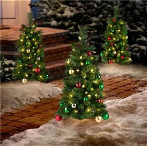 3pc cordless lighted decorated pathway marker christmas