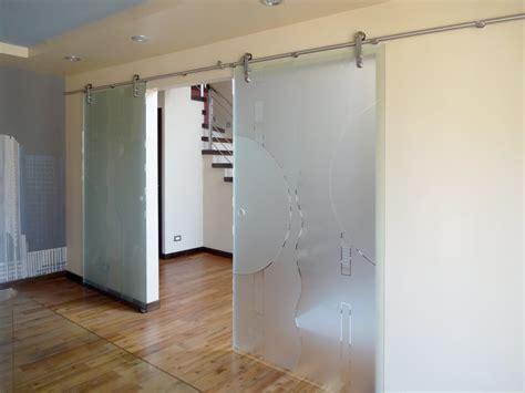 frosted glass sliding barn door bi parting creative mirror shower