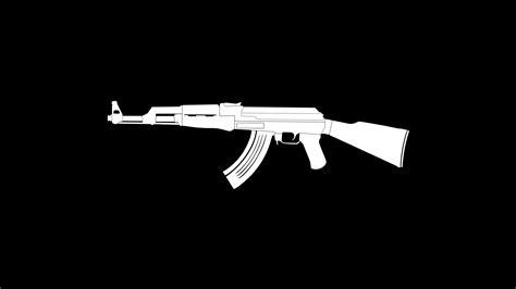 ak gun weapon minimalism hd artist  wallpapers