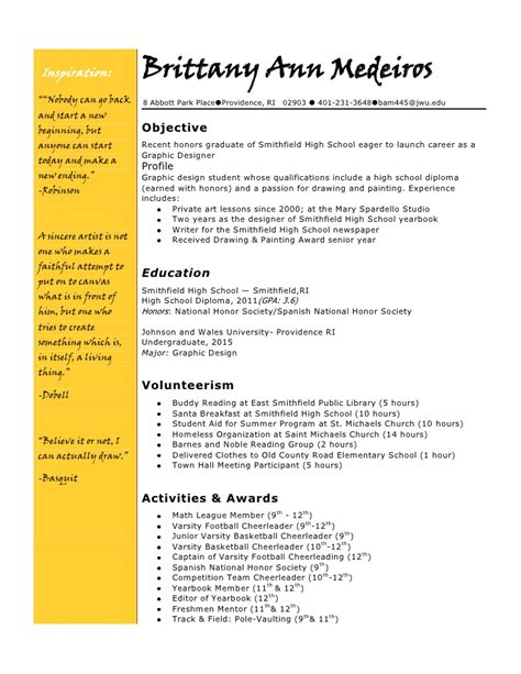what goes on a college resume college resume write