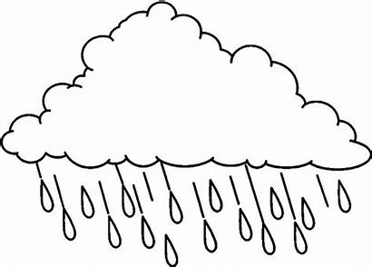 Coloring Cloud Pages Raincloud Printable