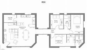 Plan maison fabulous plan d with plan maison plan d with for Plan maison avec appartement
