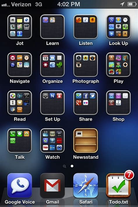 organize ios apps by actions instead of categories