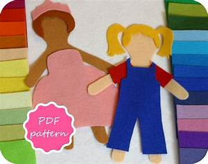 matilda felt paper doll pdf pattern for flannel board With felt dress up doll template