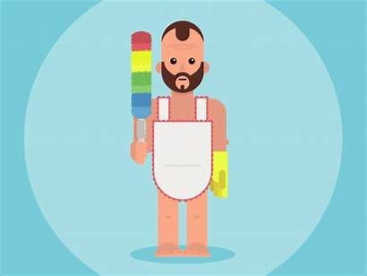 Clean Spring Cleaning Flasher Dribbble Animation Cleaner